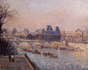 Camille Pissarro - The Louvre, Afternoon