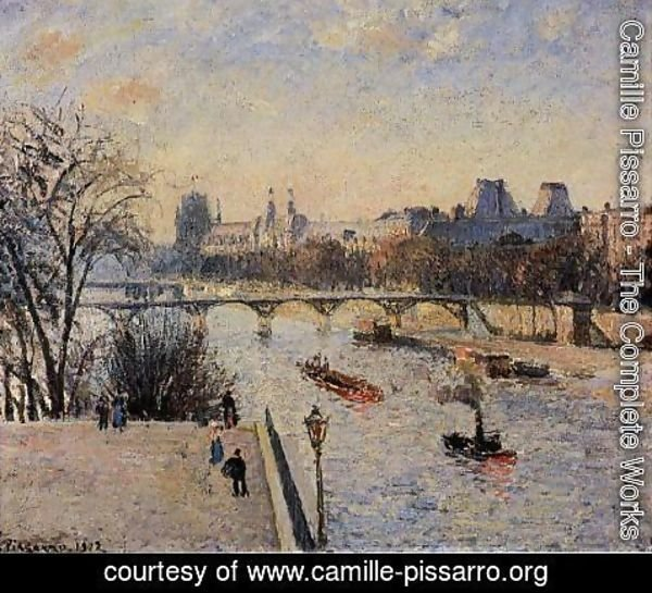 Camille Pissarro - The Louvre