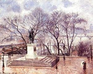 The Raised Terrace of the Pont-Neuf, Place Henri IV: Afternoon, Rain