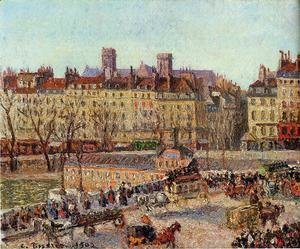 Camille Pissarro - The Baths of Samaritaine, Afternoon