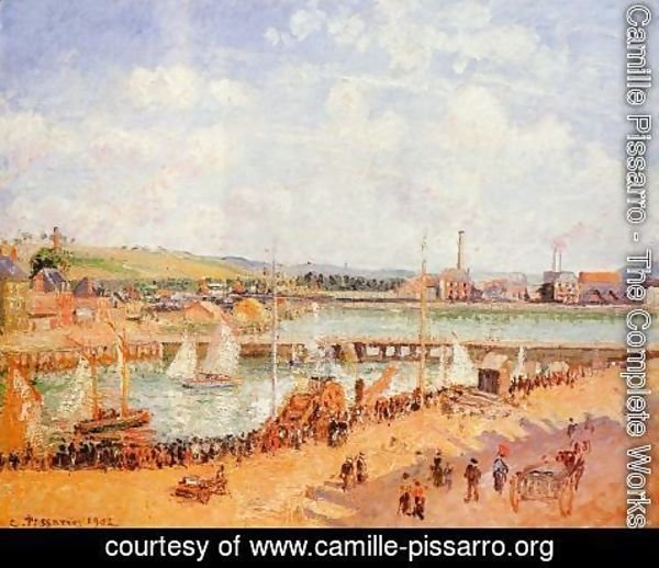 Camille Pissarro - The Port of Dieppe, the Dunquesne and Berrigny Basins: High Tide, Sunny Afternoon