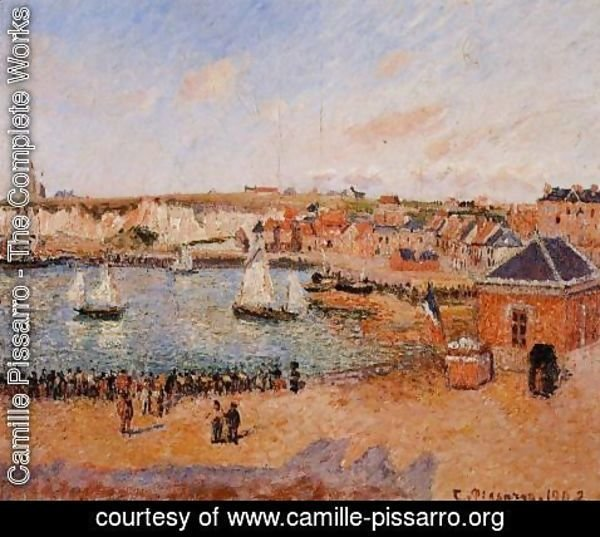 Camille Pissarro - The Inner Harbor, Dieppe: Afternoon, Sun, Low Tide