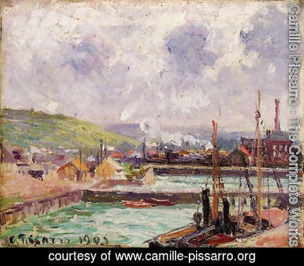Camille Pissarro - View of Duquesne and Berrigny Basins in Dieppe