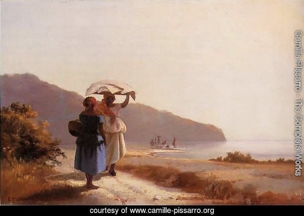 Two Woman Chatting by the Sea, St. Thomas