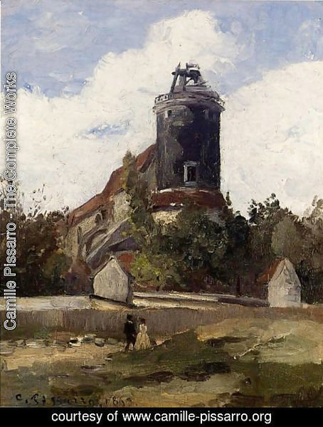 Camille Pissarro - The Telegraph Tower at Montmartre