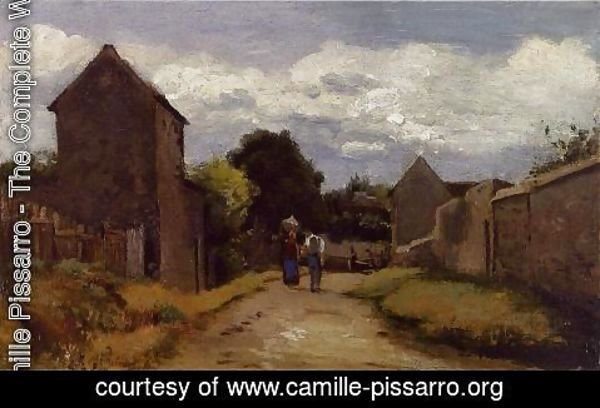 Camille Pissarro - Male and Female Peasants on a Path Crossing the Countryside