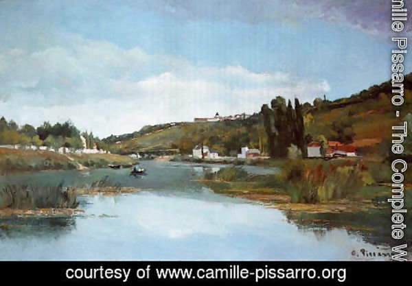 Camille Pissarro - The Banks of the Marne at Chennevieres