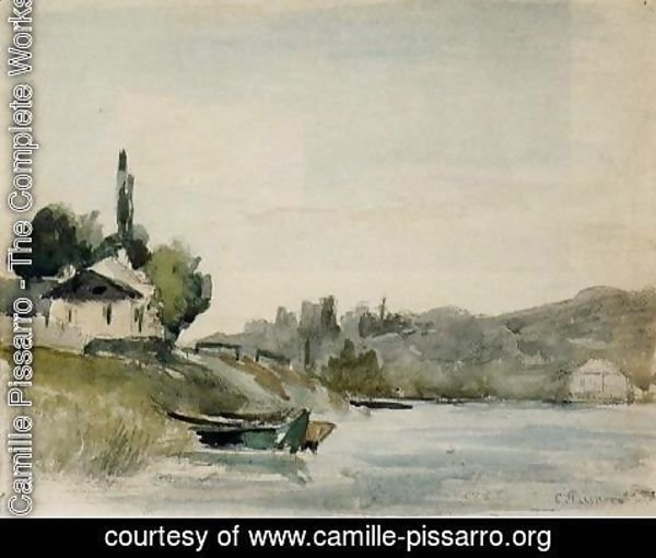 Camille Pissarro - The Banks of the Marne at Cennevieres