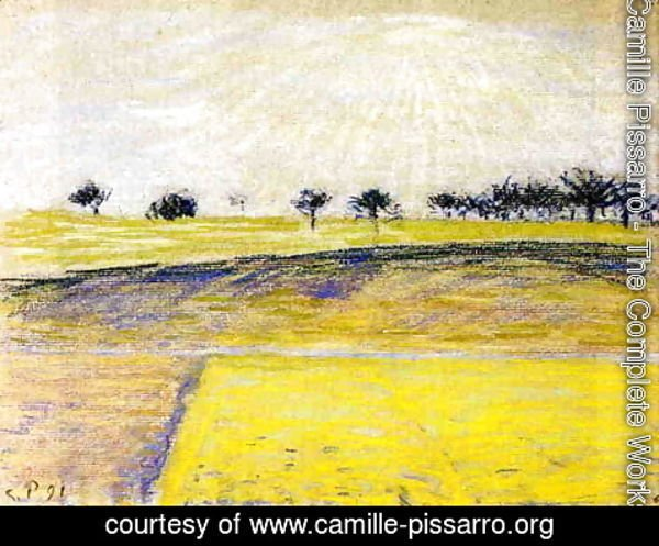 Camille Pissarro - Sunrise over the Fields, Eragny