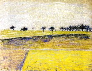 Sunrise over the Fields, Eragny
