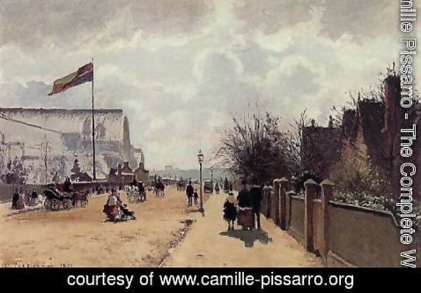 Camille Pissarro - The Chrystal Palace, London