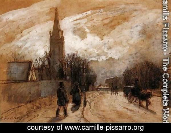 Camille Pissarro - Study for 'All Saints' Church, Upper Norwood'