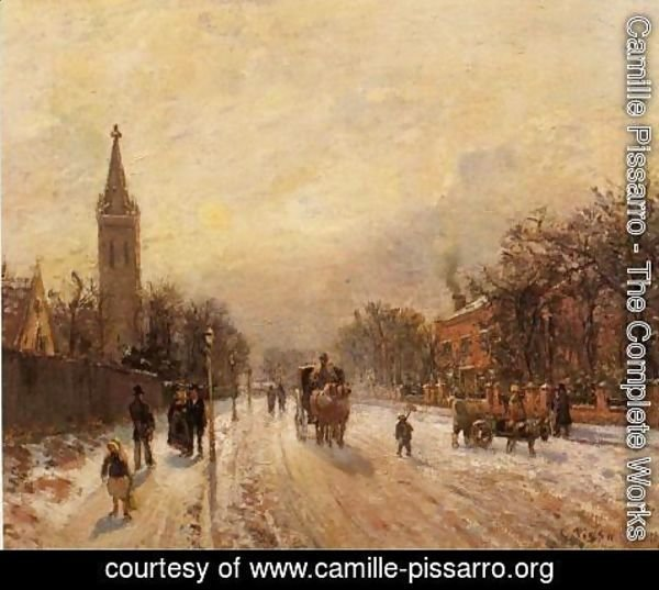 Camille Pissarro - All Saints' Church, Upper Norwood