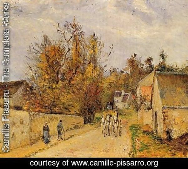 Camille Pissarro - The Stage on the Road from Ennery to l'Hermigate, Pontoise
