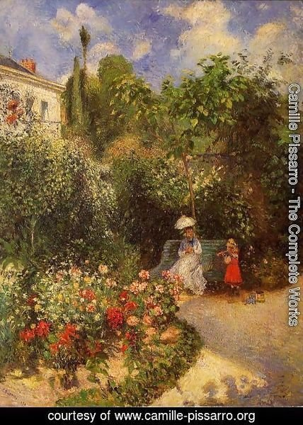 Camille Pissarro - The Garden at Pontoise