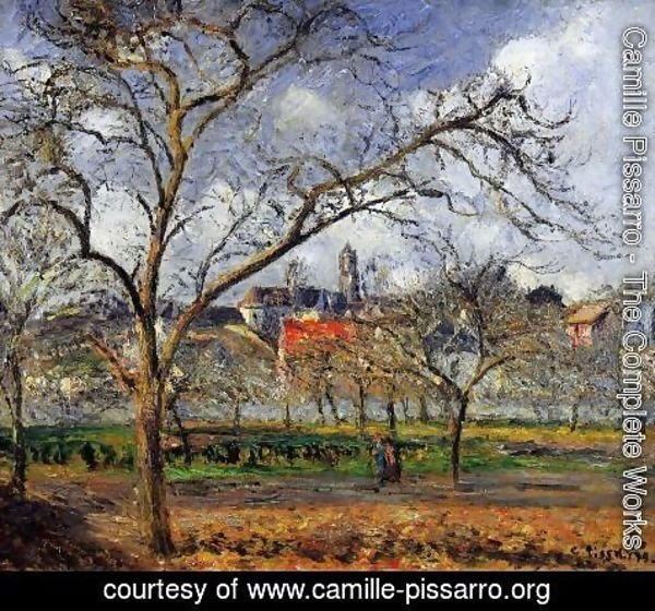 Camille Pissarro - On Orchard in Pontoise in Winter