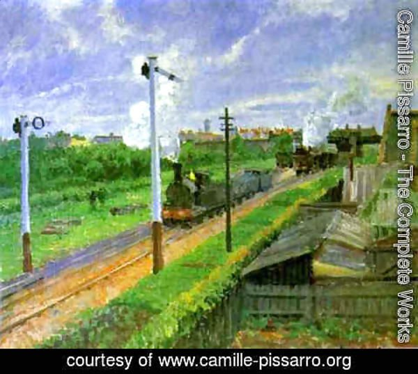 Camille Pissarro - The Train, Bedford Park