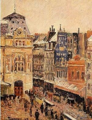 Camille Pissarro - View of Paris, Rue d'Amsterdam