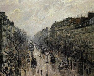 Camille Pissarro - Boulevard Montmartre: Foggy Morning