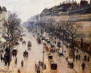 Camille Pissarro - Boulevard Montmartre: Winter Morning