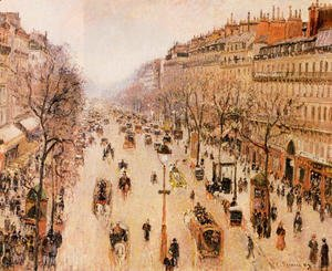 Camille Pissarro - Boulevard Montmartre: Morning, Grey Weather