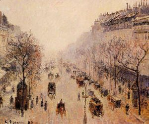 Camille Pissarro - Boulevard Montmartre: Morning, Sunlight and Mist