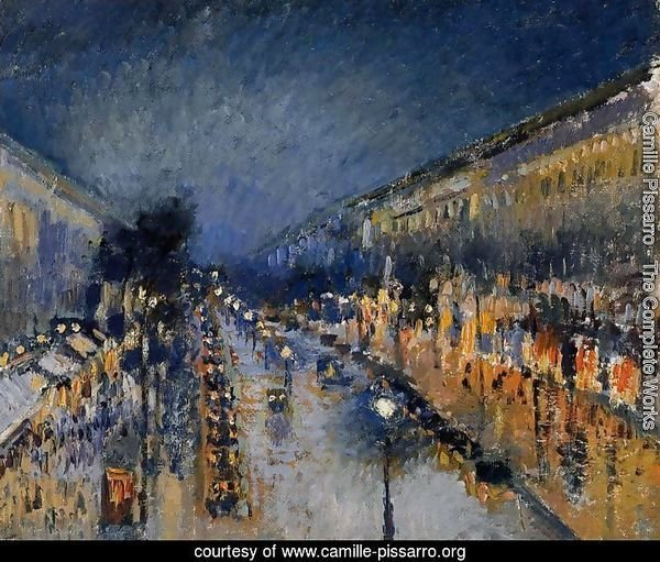 Boulevard Montmartre; Night Effect