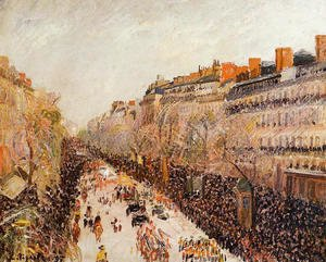 Camille Pissarro - Mardi-Gras on the Boulevards