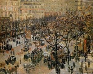 Boulevard des Italiens: Morning, Sunlight