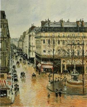Camille Pissarro - Rue Saint-Honore: Afternoon, Rain Effect