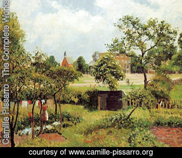 Camille Pissarro - View Across Stamford Brook Common