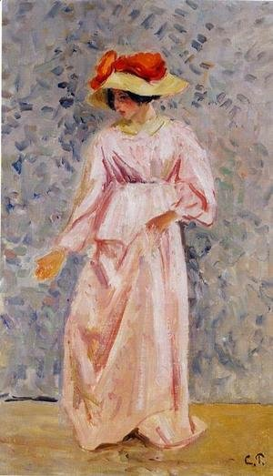 Camille Pissarro - Portrait of Jeanne in a Pink Robe