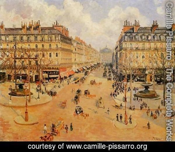 Camille Pissarro - Avenue de l'Opera: Morning Sunshine