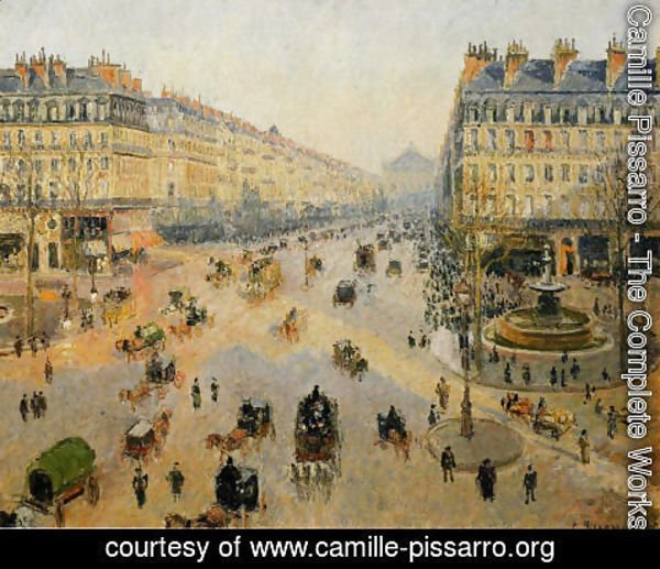 Camille Pissarro - Avenue de l'Opera: Sunshine Winter Morning