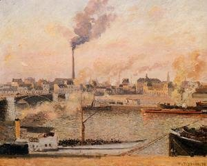 Camille Pissarro - Saint-Sever, Rouen: Morning, Five O'Clock