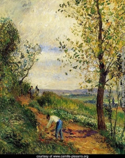 Landscape with a Man Digging