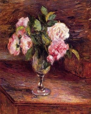 Camille Pissarro - Roses in a Glass