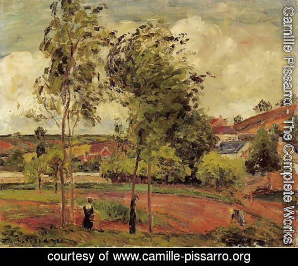 Camille Pissarro - Strong Winds, Pontoise