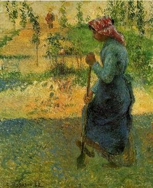 Camille Pissarro - Study of a Peasant in Open Air