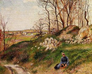 Camille Pissarro - The Chou Quarries, Pontoise