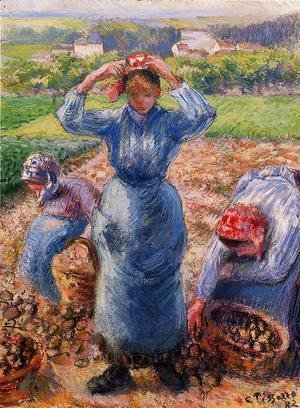 Camille Pissarro - Peasants Harvesting Potatoes