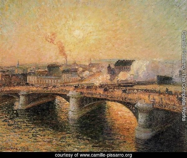 The Pont Boieldieu, Rouen: Sunset