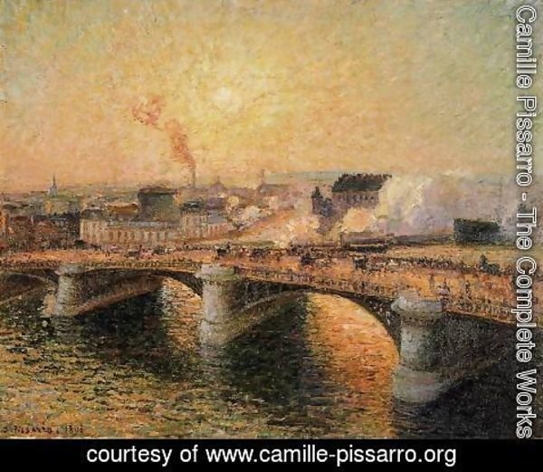Camille Pissarro - The Pont Boieldieu, Rouen: Sunset