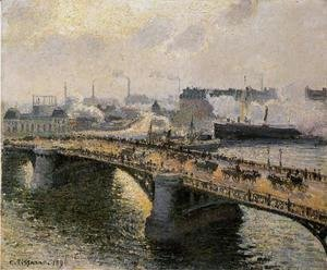 The Pont Boieldieu , Rouen: Sunset, Misty Weather