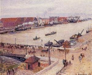 Camille Pissarro - The Seine in Flood, Rouen