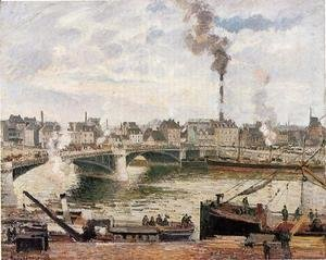 Camille Pissarro - The Great Bridge, Rouen