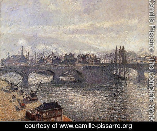 Camille Pissarro - The Pont Corneille , Rouen: Morning Effect
