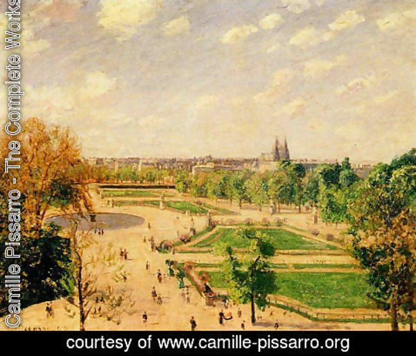 Camille Pissarro - The Tuilleries Gardens: Morning, Spring, Sun