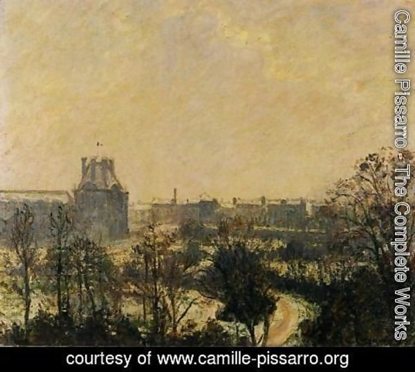 Camille Pissarro - Garden of the Louvre: Snow Effect