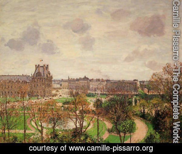 Camille Pissarro - Garden of the Louvre: Morning, Grey Weather